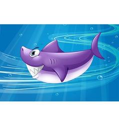 A deep sea with a shark vector
