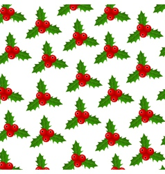 Background of christmas holly vector