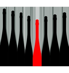 Bottles background vector