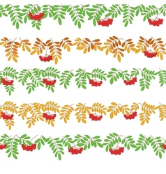 Rowanberry seamless vector