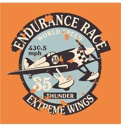 Air racing badge vector