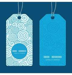Abstract swirls vertical round frame pattern tags vector