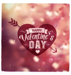 Happy valentines day creative graphic message vector