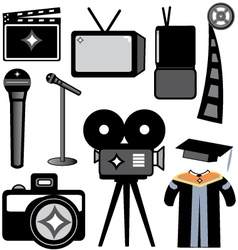 Film and photography school supplies vector