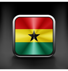 Ghana icon flag national travel icon country vector