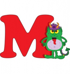 M is for monster vector