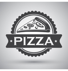 Pizza slice emblem vector
