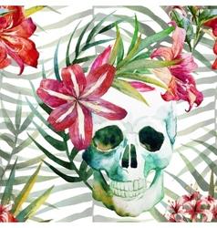Skull pattern vector
