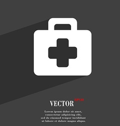 First aid kit icon symbol flat modern web design vector
