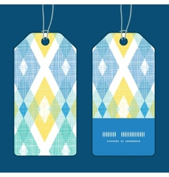 Colorful fabric ikat diamond vertical vector