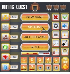 Mining game interface vector