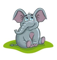 Cute elephant baby vector