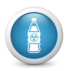 Radioactive bottle glossy icon vector