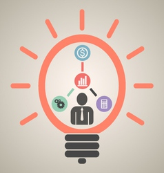 Financial business plan vector
