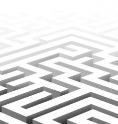 3d maze vector