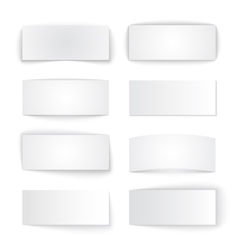 Set of isolated blank paper banners with vector