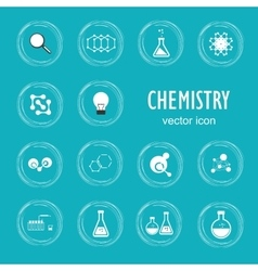 Set icon in chemistry biology medicine vector