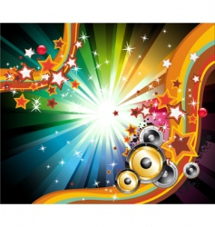Music disco flyers vector