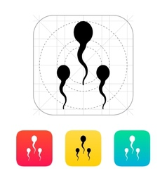 Spermatozoids icon vector