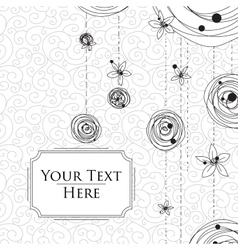 Card with scribbles on a background vector