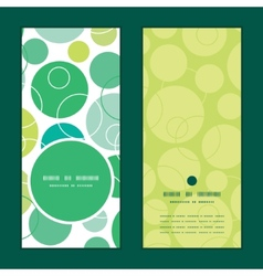 Abstract green circles vertical round frame vector