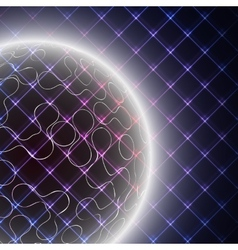 Abstract light sphere on black background vector