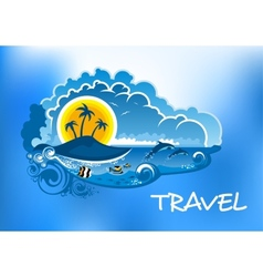 Travel poster design vector