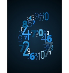 Number 6 font from numbers vector
