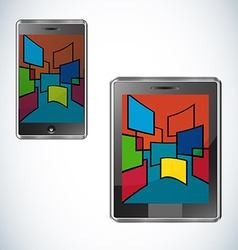 Modern tablet flat user interface vector