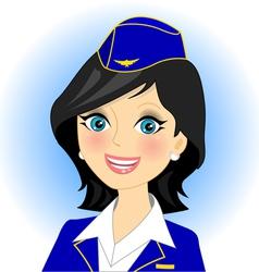 Air stewardess vector