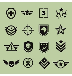 Military symbol icons vector