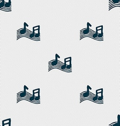 Musical note music ringtone icon sign seamless vector