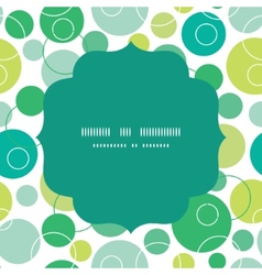 Abstract green circles circle frame vector