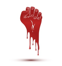 Symbol blood flow of clenched fist held in protest vector