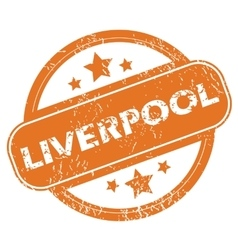 Liverpool round stamp vector