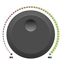 Volume dial vector