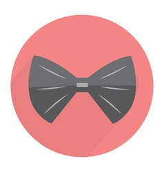 Bow tie flat modern design vector