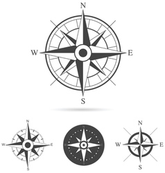 Compass rose collection vector