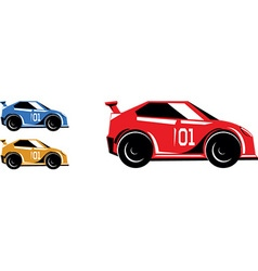 Race cars vector
