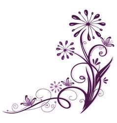 Purple flowers vector