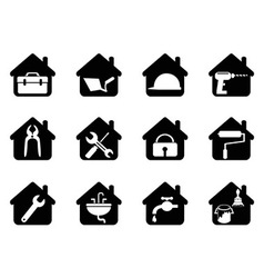 House with tools icon vector