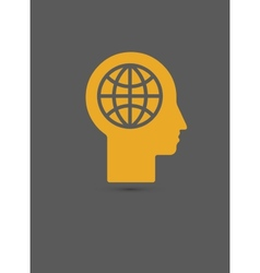 Human head - global technology vector