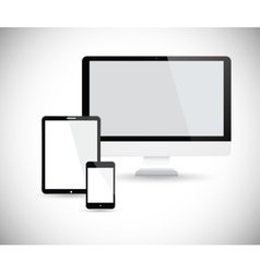 Electronic devices with white screen vector