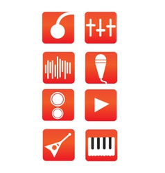 Music icons bundle vector