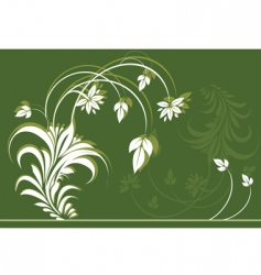 Flower and leave vector