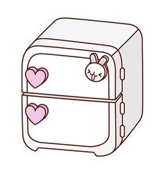 A refrigerator is placed vector