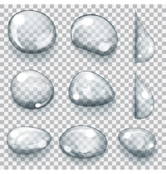 Transparent gray drops vector
