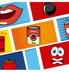 Comic pop art vector