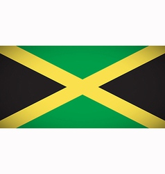 National flag of jamaica vector