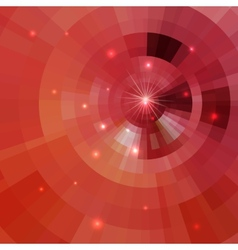 Abstract shining circle tunnel vector